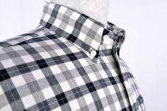 Luxire Black Grey Tattersall Flannel, shirt http://custom.luxire.com/products/black-grey-tattersall-flannel