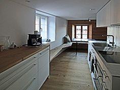 Kitchen Island, Kitchen Cabinets, Home Decor, Arosa, Flims, Island Kitchen, Decoration Home, Room Decor, Cabinets