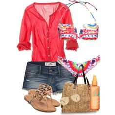 Polyvore fashion sets for beach