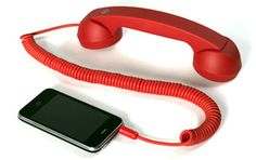 Retro corded handset for smartphone!. Keeps phone away from your skin and your BRAIN!