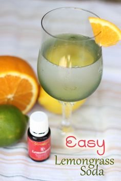 Easy Lemongrass Soda Recipe {Young Living Essential Oil Giveaway - Ends - Sweet T Makes Three Cooking With Essential Oils, Yl Essential Oils, Young Living Essential Oils, Yl Oils, Young Living Lemongrass, Oils For Life, Lemongrass Tea, Soda Recipe, Sweet T