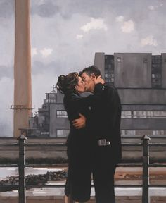 Jack Vettriano | Long Time Gone  The old men and the stylish lady.
