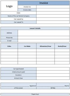 Car Sales Invoice Template Free  Invoice    Car Sales