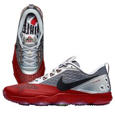 Ohio State Buckeyes Nike 2015 College Football Playoff Sugar Bowl Hypercross Air Zoom Trainer - Scarlet/Gray I need a pair!