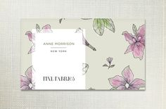 Check out Floral Pattern Business Card by Feather Art on Creative Market