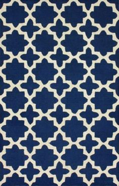 Rugs USA Tuscan Terali Moroccan Trellis Navy Rug. I like it, but it's probably more than I want to spend.