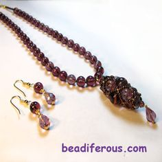 Netted bead tutorial on Beadiferous and more