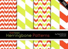 RedGreen-Herringbone-Patterns
