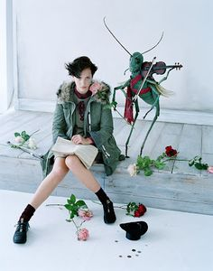 Uniqlo Undercover (UU) by Jun Takahashi Fall/Winter campaign. Photography by Tim Walker, styling by Jacob K. Vogue Japan, Vogue Russia, Editorial Photography, Fashion Photography, Fairy Photography, Mirror Photography, Romantic Photography, Glamour Photography, Artistic Photography