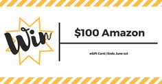 Enter for a chance to win a $100 Amazon eGift Card. Giveaway ends on June 1!https://wn.nr/n8GVp8