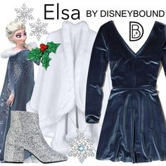 DisneyBound is meant to be inspiration for you to pull together your own outfits which work for your body and wallet whether from your closet or local mall. As to Disney artwork/properties: ©Disney Disney Character Outfits, Character Inspired Outfits, Frozen Outfits, Disney Bound Outfits, Chic Outfits, Fall Outfits, Fashion Outfits, Women's Fashion, Disney Inspired Fashion