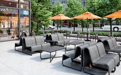 Omega Aluminum + Stretch Sling Sectional Patio Sofa Collection