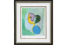 One Kings Lane - Blue-Chip Art - Picasso, Figure  Litho, Signed