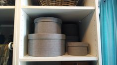 Think outside the (square) box with KVARNVIK. This 3-pack of round boxes are great for holding accessories, and adding texture in any room.