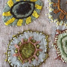 17 ideas embroidery stitches modern textile art for 2019 Hand Embroidery Stitches, Hand Embroidery Designs, Embroidery Techniques, Embroidery Applique, Cross Stitch Embroidery, Hand Stitching, Machine Embroidery, Embroidery Sampler, Embroidery Ideas