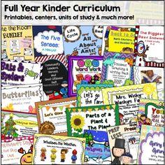 Kindergarten Curriculum for the Year