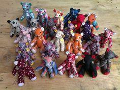 handmade teddybear keychain plush doll by aikoscloset on Etsy