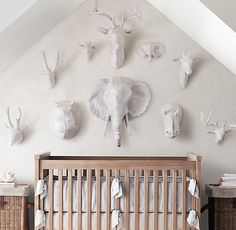 add character to the nursery with striking and unusual accent pieces that create a focal point in the room.
