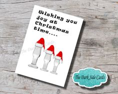 """Kinky Christmas Card. Naughty card, Sexy Card, Flirty Card, BDSM, Blank Greeting Card, Butt Plugs, sex toys. 5"""" x 7"""" Digital Download. by TheDarkSideCards on Etsy"""