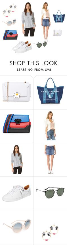 """""""Stay Classy..**"""" by yagna ❤ liked on Polyvore featuring Anya Hindmarch, Marc Jacobs, Versace, James Jeans, Joe's Jeans, Frye, Ray-Ban, N°21, Kate Spade and vintage"""