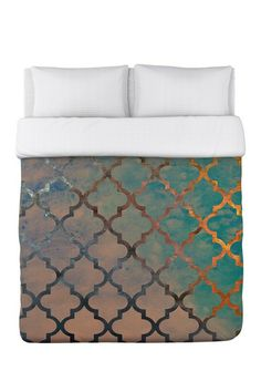 Oliver Gal by One Bella Casa Amour Arabesque Multi Duvet Cover on HauteLook