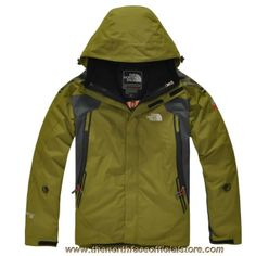 Cheap The North Face Sale Gore Tex Men Grass Green Jacket Outlet TNF582