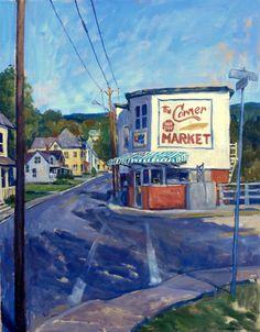 Oil Painting Landscape American Market Large by wickstromstudio, $650.00