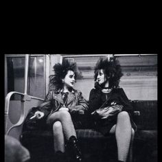 Punks on the tube, 1980s, back in the day when you could SMOKE on the TUBE!