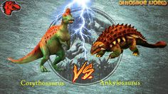 Ankylosaurus VS Corythosaurus - Shake the Earth Event   Jurassic World T...