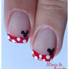 Minnie Mouse Nails. Picture only. Cashier at Target had these,awesome! Also saw some here with a bow instead.