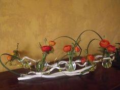 art floral | centre de table - Photo de Art floral - maminou Art Floral, Deco Floral, Floral Design, Flower Decorations, Christmas Decorations, Fleur Design, Ikebana, Floral Arrangements, Flower Arrangement