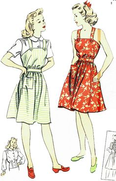 2fb02a6c3f6 Sewing Pattern Vintage 1940s Du Barry 5825 Summer Dress with Blouse