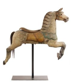 CAROUSEL HORSE - Charles W. Dare 'Track' Horse, circa : Lot 25