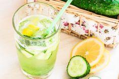 Agua de jengibre, limón y pepino para adelgazar