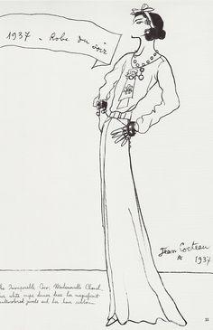 Coco Chanel par Jean Cocteau 1937