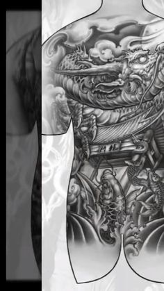 Introducing a manuscript full of tattoos. Viking Tattoo Sleeve, Viking Tattoo Symbol, Viking Tattoos, Sleeve Tattoos, Full Back Tattoos, Full Body Tattoo, Japanese Tattoo Art, Japanese Tattoo Designs, Pretty Tattoos For Women