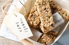 Keep a batch of these muesli bars in the fridge for a healthy any time snack.