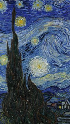 Van Gogh's painting in iPhone wallpaper