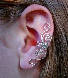 Silver Plated Multi Swirl Ear Cuff, New Design | Luulla