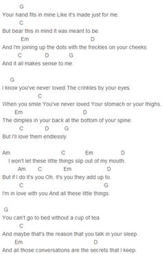One Direction - Little Things Chords