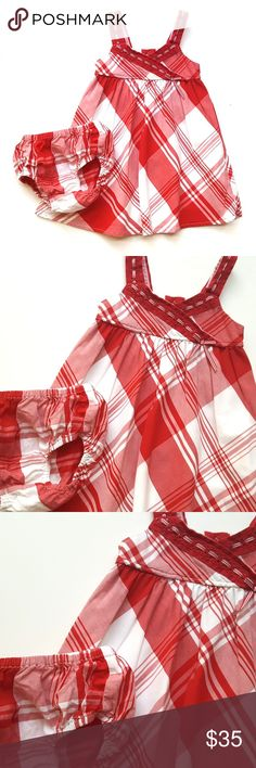 Janie and Jack Girls Dress American Picnic Plaid Janie and Jack Girls Dress American Picnic Red & White Plaid  Size  6-12  Condition: EUC  My items come from a smoke-free household, we do have a kitty, so an occasional hair may occur! Janie and Jack Dresses
