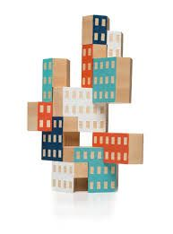 A unique set of wooden stacking architectural building blocks designed by James Paulius for Areaware. Bg Design, Creative Design, Atelier Architecture, Wooden Architecture, Bebe Love, Stacking Toys, Kids Wood, Wooden Blocks, Wood Toys