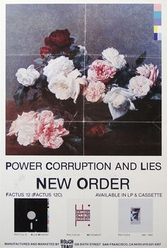 New Order : Promo poster : 1983