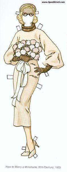 Coleção incrível de boneca de papel da Marilyn Monroe, com direito a guarda roupa completíssimo...                                    Compar...