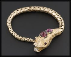 A personal favorite from my Etsy shop https://www.etsy.com/listing/201869350/victorian-snake-bracelet-antique-garnet