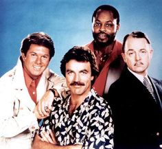 Magnum PI (1980-1988) Starring    Tom Selleck..Thomas Magnum P.I, John Hillerman..Higgins, Roger E. Mosley..  T C &  Larry Manetti..Rick