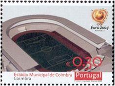 Estádio Municipal de Coimbra - Euro 2004 Coimbra's stadium - soccer from minisheet