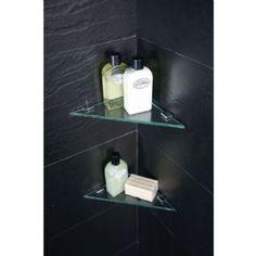Design Of The Doorless Walk In Shower More. See More. Triangular Corner  Shelves