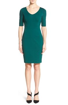 Halogen® Ponte Dress (Regular & Petite)