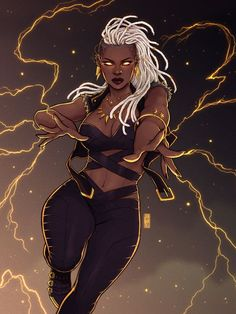 Afrofuturism Art And Cyberpunk – Marvel Comics X Men Comics, Black Comics, Bd Comics, Comics Girls, Marvel Comics Art, Storm Marvel, Hq Marvel, Storm Xmen, Captain Marvel